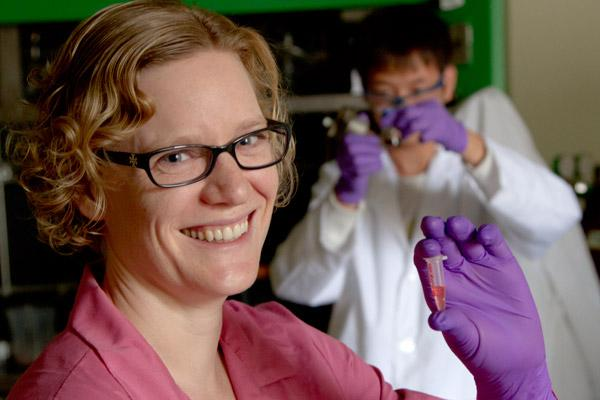 Ohio State professor Jessica Winter has devised a better way to make fluorescent nanoparticles, which is drawing funding as a spinoff business.