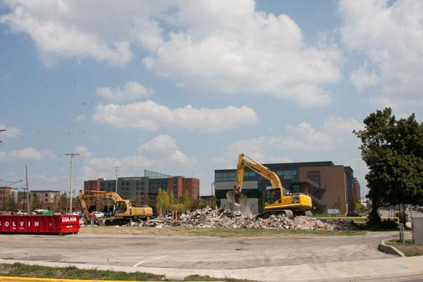 HealthSouth's site is being cleared for construction.