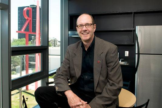 CCAD President Denny Griffith, above, expects to work closely with Columbus State PresidentDavid Harrison to revive their section of the Discovery District.