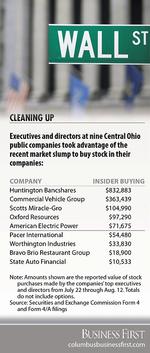 Insiders go shopping during market turmoil, adding to stock holdings