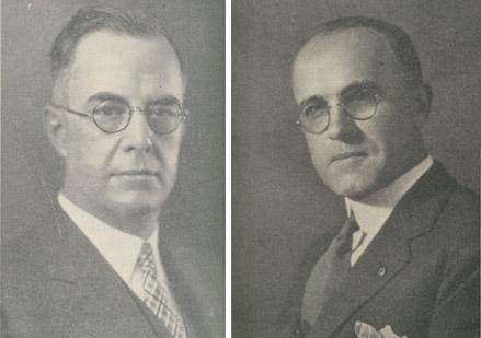 Harry Moores, left, and Stanley Ross grew up on farms near Columbus and met while attending classes at Edminston and Johnson Business College on South High Street.