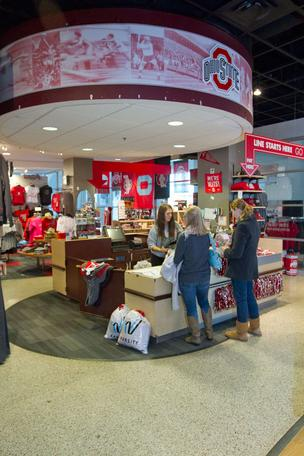 Ohio State's flagship team store is tucked away inside the Jerome Schottenstein Center, where school officials believe too few people can easily visit.
