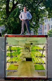 """PodPonics  What is it? PodPonics is a startup that converts retired shipping containers into high-output hydroponics systems that grow micro greens. Started by two software engineers, the """"Pods"""" are outfitted with automated temperature, humidity and PH controls to minimize labor. PodPonics sells their produce directly to restaurants and through regional distributors. HQ: Atlanta, GA Money: $725,000 in summer 2011 Fast fact: PodPonics currently leases land near the Atlanta airport. The ambient air surrounding the site has high levels of CO2, providing an unanticipated benefit for growing their produce."""