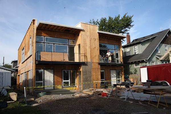 TrekHaus, a duplex being built to passive house standards in Southeast Portland, will become a living laboratory for students and faculty at Portland State University.