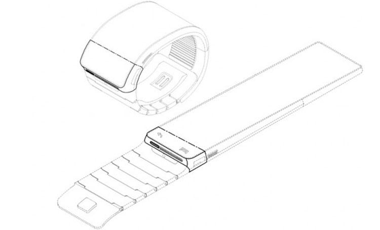A patent application shows what Samsung's wristwatch-like device would look like.
