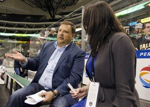 Tom Gaglardi talks about the future of the Dallas Stars from the home bench at American Airlines Center.