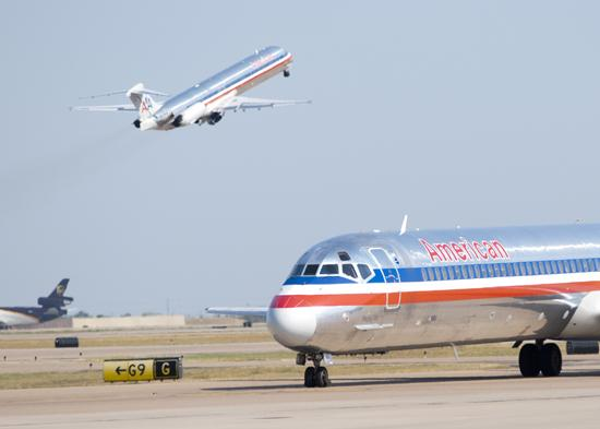 American Airlines serves only two destinations out of Kansas City International Airport — Chicago and Dallas.