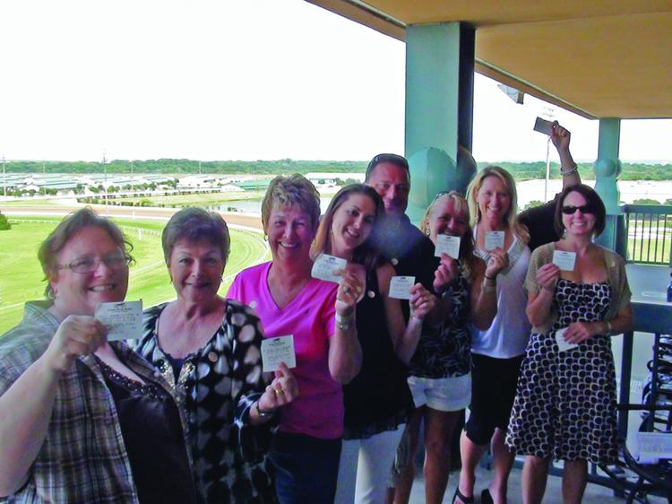 MicroAccounting Solutions employees at Lone Star Park.