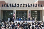 Five presidents and first ladies graced the stage during the dedication ceremony for the George W. Bush Presidential Center at SMU.