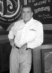 Bennigan's CEO Paul Mangiamele was photographed at the company's new location in Plano. I told him of my days as a young art student in Denver, Colo., busing tables at Bennigan's. I miss my half-price Monte Cristos.