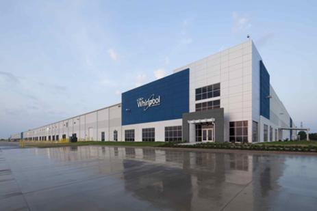 Developers are expected to build more speculative development -- like this Whirlpool facility in South Dallas -- in the next six months as industrial vacancy rates hit decade-long lows.