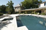 The pool area at Phil Romano's Dallas home that is on the market for $10 million.