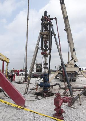 Fracking site near Decatur, Texas.