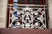 Ornate iron work at the Adolphus Hotel in downtown Dallas.