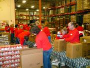 Employees of BKD LLP in Dallas and Waco volunteered for four hours at the North Texas Food Bank in three groups and accomplished the following: Group 1:  Helped sort 5,070 lbs. of food, which will be boxed into 4,229 family boxes & 2,730 after-school backpacks.Group 2:  Helped sort 3,750 lbs. of food, which will be boxed into 3,125 family boxes.Group 3:  Helped sort 10,468 lbs. of sweet potatoes, which will be used for 8,724 meals.