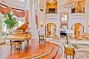A grand piano sits in the music room of The Champ d'Or in Hickory Creek.
