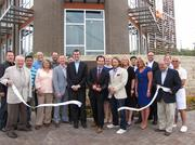 The Oak Cliff Chamber of Commerce celebrated the opening of Zang Triangle Apartments with a ribbon-cutting ceremony. Amenities include poolside fitness club, Wi-Fi Internet cafe and a sports lounge.