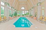 The indoor swimming pool at Champ d'Or.