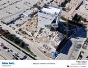 An aerial view of the Perot Museum of Nature & Science