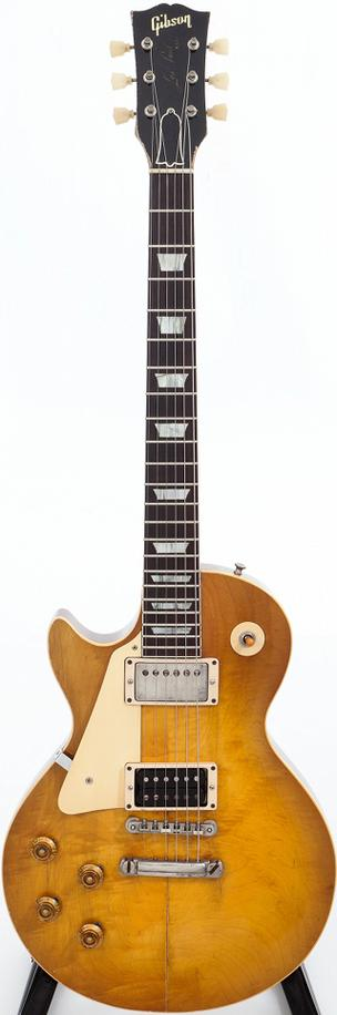 This 1959 Gibson Les Paul Standard Sunburst Left-Handed Solid Body Electric Guitar, Serial # 9 0136 sold for $194,500.