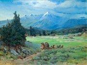 San Francisco Peaks, by Bertha Menzler Dressler, (1871-1947)