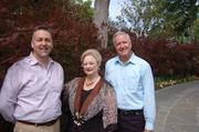 At the Dallas Arboretum, Jimmy Turner, senior director of gardens; Mary Brinegar, CEO; and Dave Forehand, vice president of gardens and visitor services.