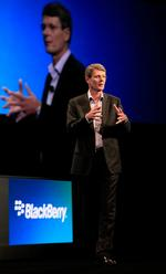 BlackBerry's <strong>Heins</strong> won't speculate on sale
