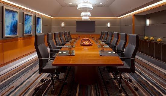 The board room at the Grand Hyatt.