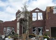 Several homes in the Diamond Creek subdivision were damaged.
