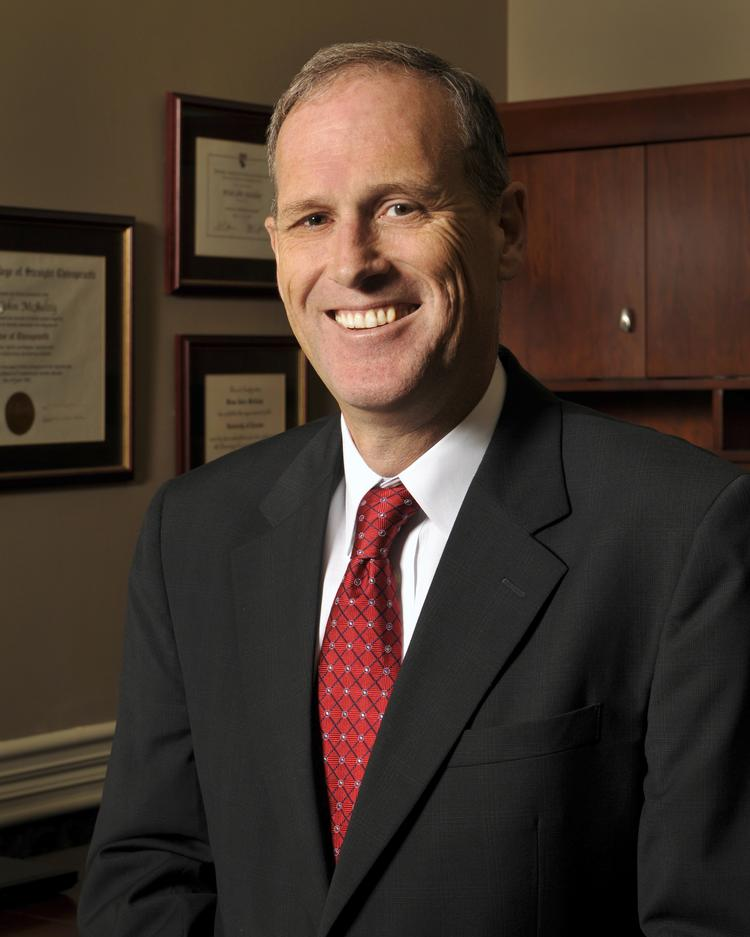 Brian McAuley will start as Parker University's president in March.