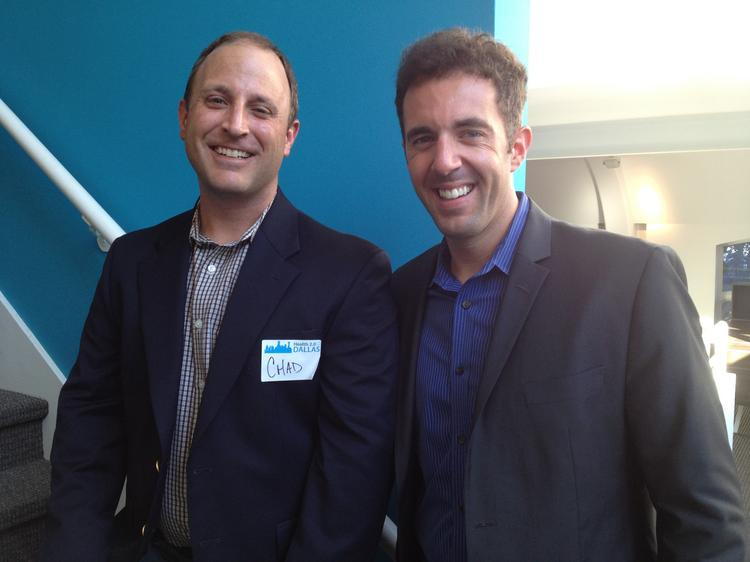 Chad Johnson, marketing communications manager of Corepoint Health, and Michael Walsh, founder and CEO of Cariloop, are hoping the Health 2.0 Dallas chapter they founded six months ago will eventually provide technology solutions for health care issues.