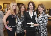 From left, DFW Dance Fitness Zumba instructor Carla Riffel with Patty Woo, Paula Baldwin and Cindy English from United Surgical Partners at the DBJ's Healthiest Employers Awards.