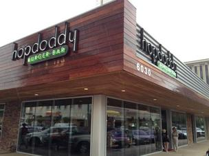 The Dallas Hopdoddy is located in Preston Center on Luther Lane.
