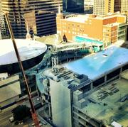 Work on First Baptist Dallas is roughly 50 percent complete.