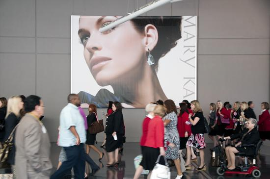 Last year's Mary Kay meeting in Dallas drew thousands.
