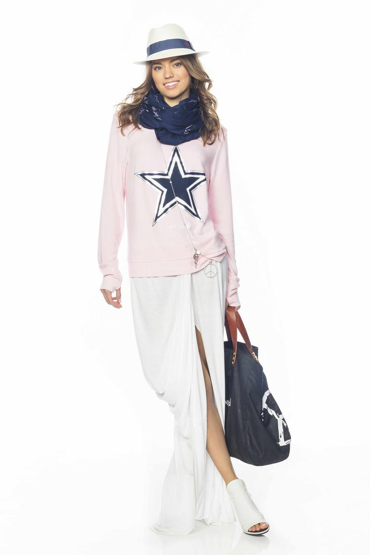 One of the models featuring the new Dallas Cowboys sportswear.