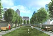 The Residences at the Stoneleigh will have a garden amenity for homeowners.