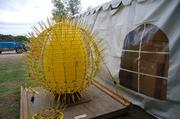 The base for The Sun, an iconic Chihuly piece that will be installed at the Dallas Arboretum.