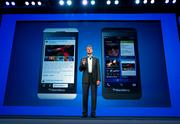 BlackBerry CEO Thorsten Heins introduced the new phones in January in an event in New York.