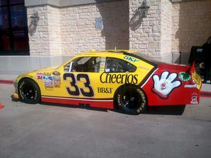 Last year I saw the Cheerios car of Richard Childress Racing that was then driven by Clint Bowyer.