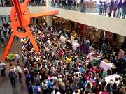 A large crowd appeared to see Candace and Charles Nelson at NorthPark Center.