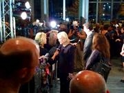 Actress Glenn Close is interviewed on the red carpet at the Modern Art Museum.