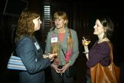 DBJ Editor Lauren Lawley Head visits with Cynthia Pharr Lee and Katy Seitzler.