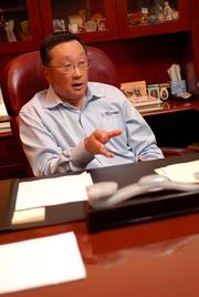John Chen says he loves physical keyboards.