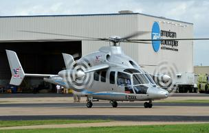 Eurocopter's X³ aircraft sits on the tarmac at the company's facility in Grand Prairie.