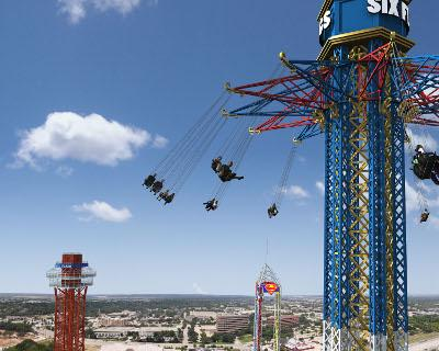 Texas Skyscreamer riders will be in open-air swings.
