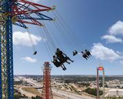 Texas SkyScreamer riders should get quite a view as they spin around above Arlington.