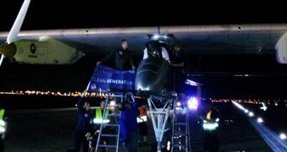 Solar-powered plane makes historic landing at D/FW Airport
