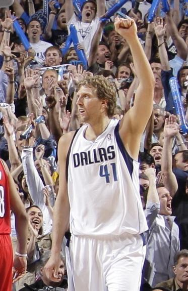 The NBA is looking to place company logos on team jerseys such as those of the Dallas Mavericks.