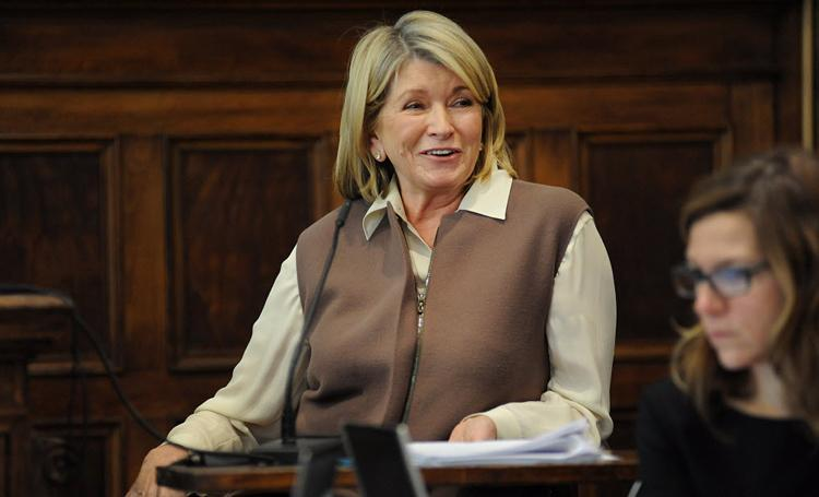 Martha Stewart has testified in the ongoing court battle over the sale of her company's products.